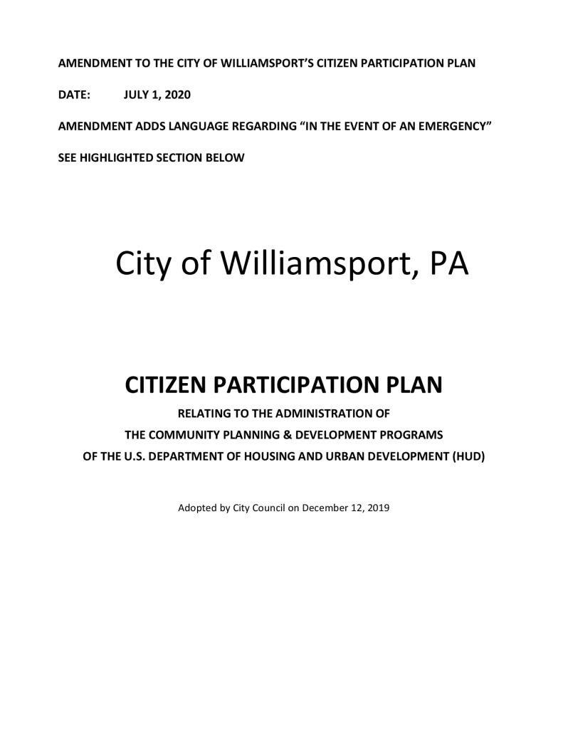 thumbnail of Citizens Participation Plan Amend 2020